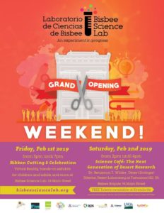 Bisbee Science Lab Grand Opening @ Bisbee Science Lab